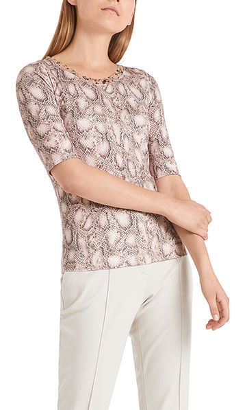 T-shirt coton motif reptile