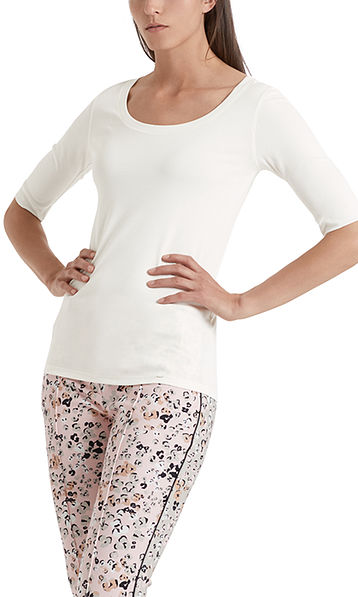 Basic-Shirt aus Baumwollstretch