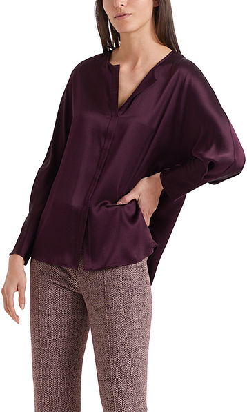 Silk blouse with Swarovski® crystals