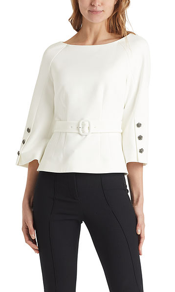 Blouse with glittering buttons