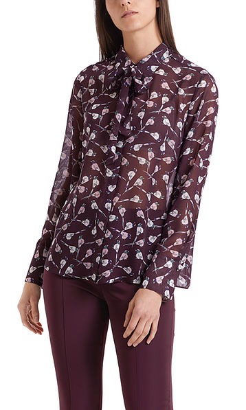 Blouse with mini birds