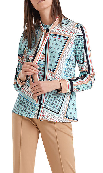 Blouse with foulard print