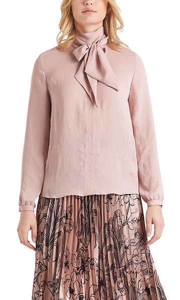 Soepele blouse met strikhals