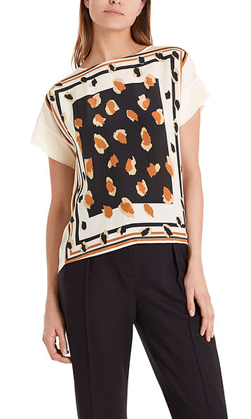 Tee-shirt chemisier en différents tissus