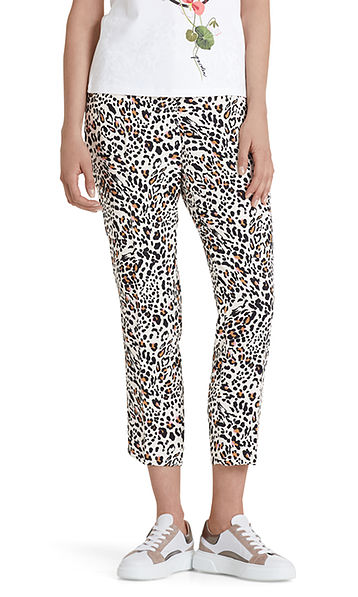 Leopard pants with colour accents