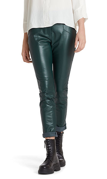 Stylish faux leather pants