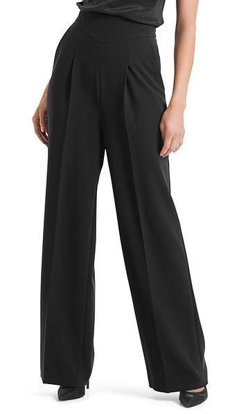 Elegant pants with a high waistband