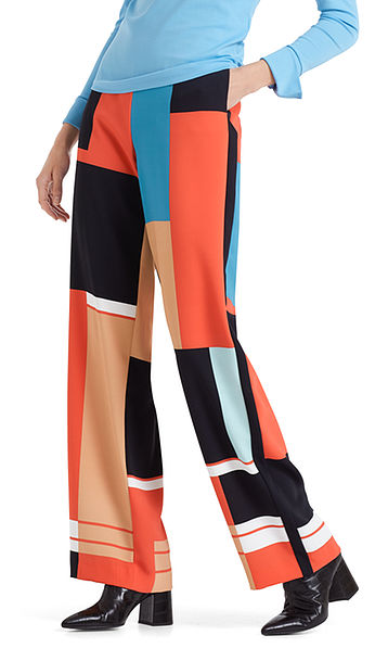 Smart pants with graphic print