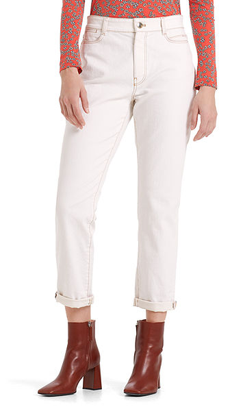 White jeans in a casual fit