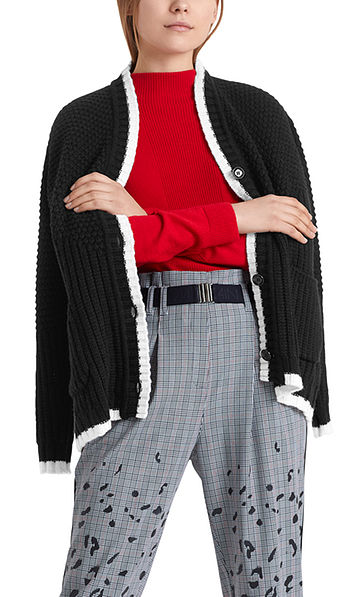 """Long knitted jacket """"Knitted in Germany"""""""