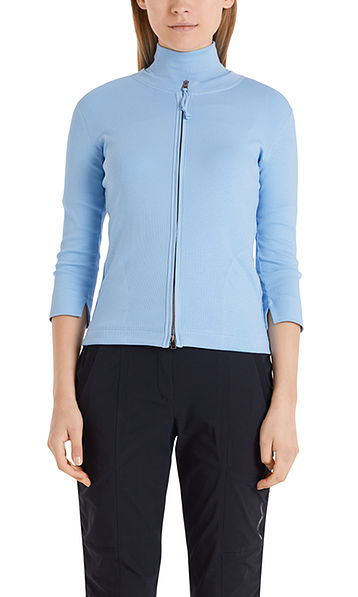 Short jersey jacket in cotton