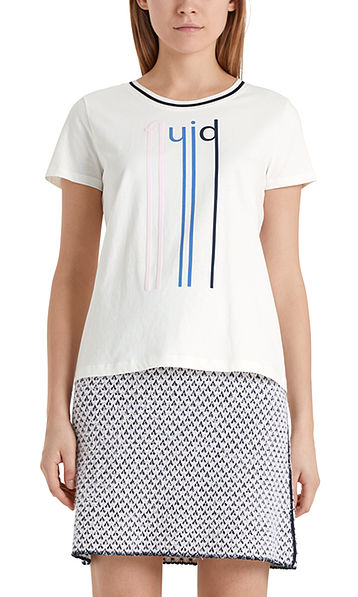 Cotton T-shirt with lettering