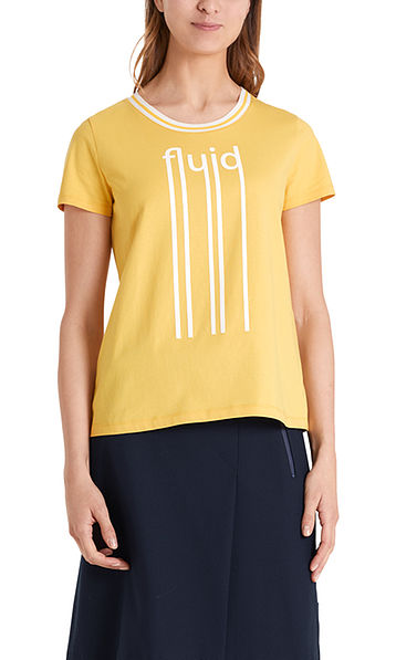 Katoenen T-shirt met belettering