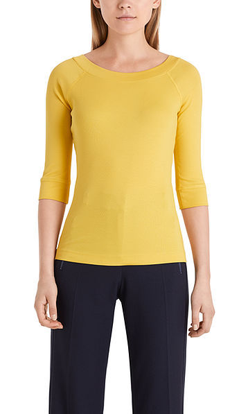 Fine-ribbed top in cotton