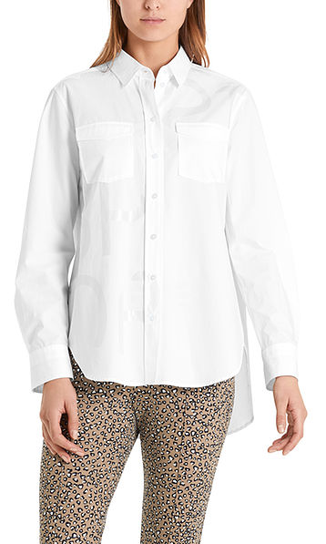 Long blouse in cotton