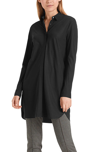 Stretch tunic dress in jersey