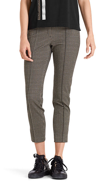 Stretch pants in jersey jacquard
