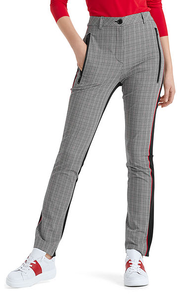 Pants in a glen plaid pattern
