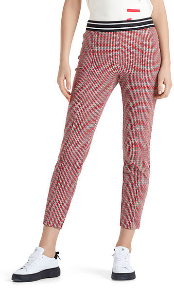 Stretch pants with pattern