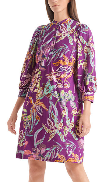 Jersey dress with orchid print