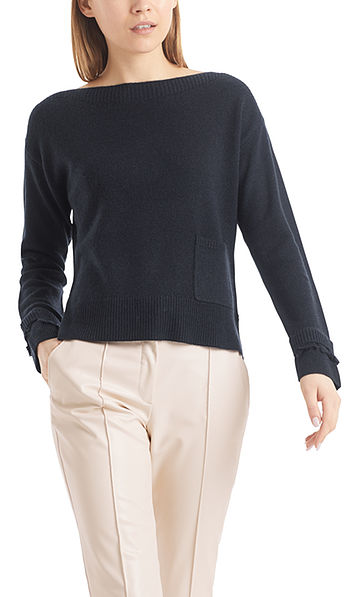 Knitted sweater in wool and cashmere