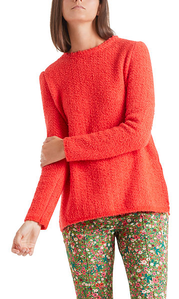 "Bouclé sweater ""Knitted in Germany"""