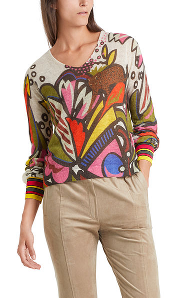 Print-Pullover Knitted in Germany