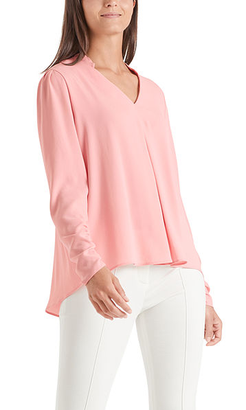 Blouse-style top with gathered details