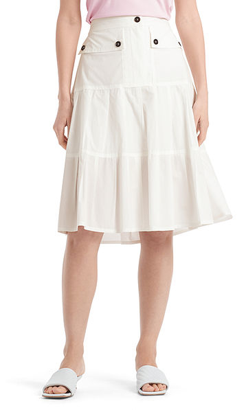Pleated skirt in cotton