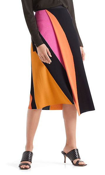 """Colour block skirt """"Knitted in Germany"""""""