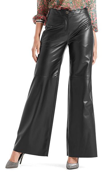 Pantalon ample en similicuir nappa