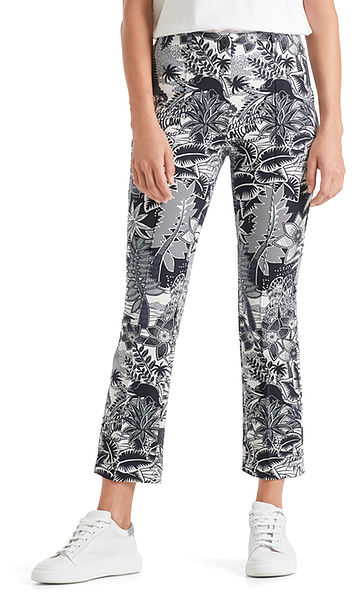Printed pants in scuba jersey