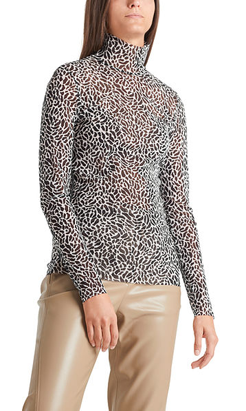 Top with leopard graphics