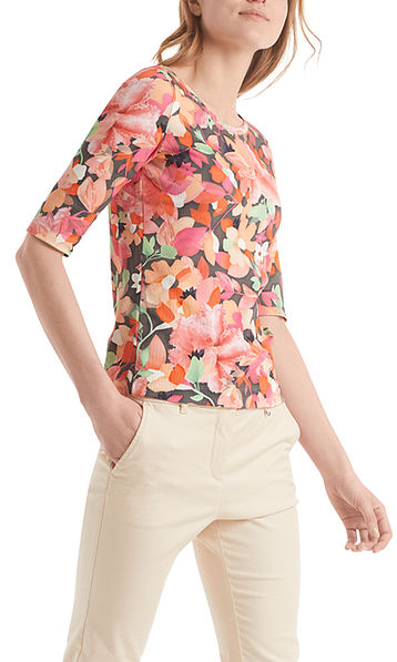 Shirt with flower print