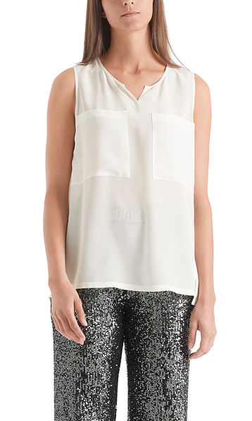 Blouse-style top in silk