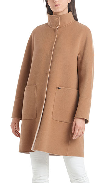 Reversible coat with cashmere