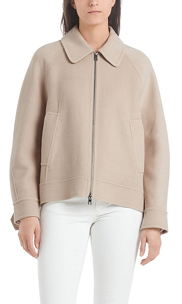 Outdoor jacket from wool mix