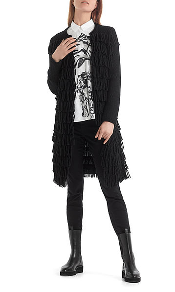 """Fringed jacket """"Knitted in Germany"""""""