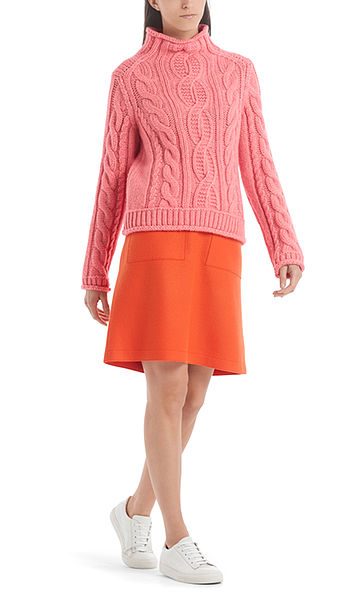 Zopfstrickpullover Knitted in Germany