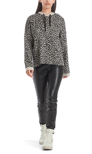 """Leopard sweater """"Knitted in Germany"""""""
