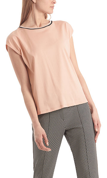 Easy-going top in cotton jersey