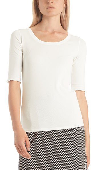 Basic top in cotton jersey