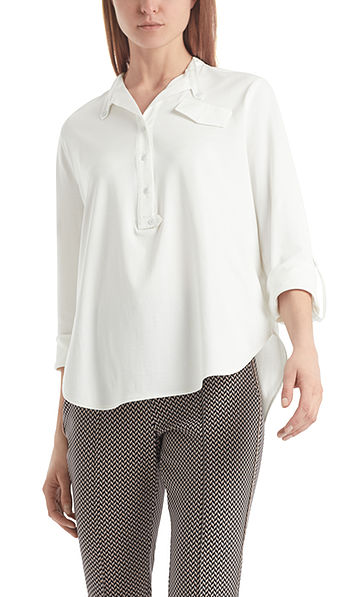 Blouse-style top in cotton jersey