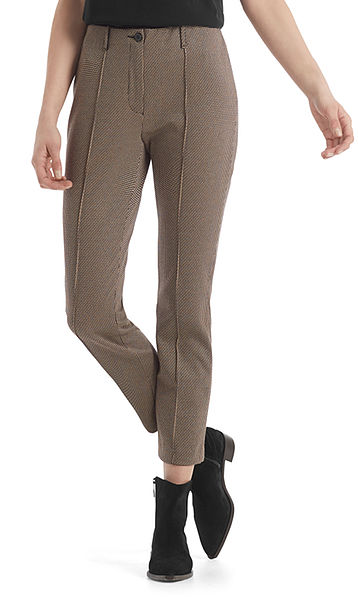 Jacquard pants with small pattern